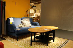 Living room display in an Ikea store in Japan. Stock Images