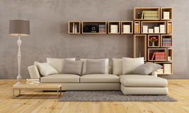 Living room with elegant sofa Stock Image