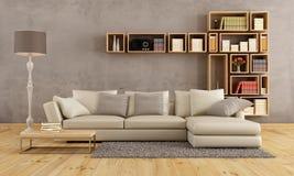 Living room with elegant sofa Stock Image