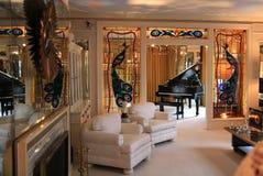 Living room at Elvis Presley's Graceland Stock Image