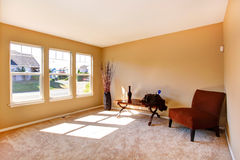 Living room in empty house royalty free stock photo