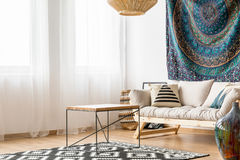 Living room in ethnic style Stock Photo