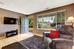 Living room with exit to front yard Stock Images