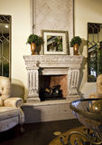 Living room fireplace Royalty Free Stock Image