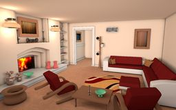 Living Room Royalty Free Stock Image
