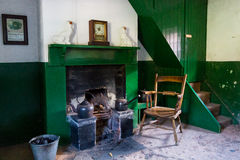 Living room and fireplace in a old Northern Ireland house Stock Image