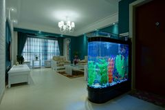 Living room fish tank Stock Photos