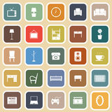 Living room flat icons on light background Stock Photography
