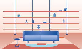 Living room flat illustration Stock Images