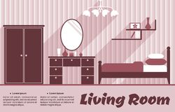 Living room flat interior Royalty Free Stock Images