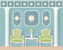 Living room in a flat style. Royalty Free Stock Photos