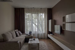 Living room in fresh renovated apartment Stock Images