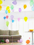 Living Room Full Of Balloons Royalty Free Stock Photography