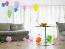 Living Room Full Of Balloons Royalty Free Stock Image