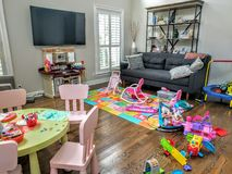 Living room full of toys Royalty Free Stock Photo