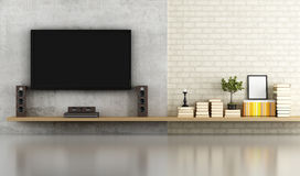 Living room without furniture Royalty Free Stock Image