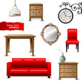 Living room furniture Stock Images
