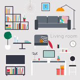 Living room. Furniture and Home Accessories, including sofas, lo Stock Photos