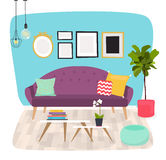 Living room. Furniture and Home Accessories, including sofas, lo Royalty Free Stock Image