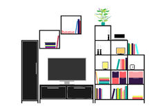 Living room . Furniture and home accessories. Royalty Free Stock Photography