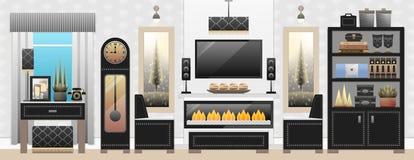 Living Room, Furniture, Interior Stock Photos