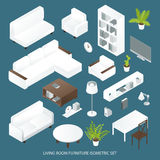 Living Room Furniture Isometric Set Stock Image