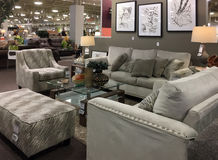 Living room furniture sale at market Stock Photo