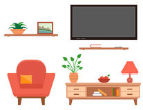 Living room furniture set Stock Photo