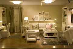 Living room furniture store Royalty Free Stock Image