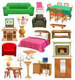 Living room furniture. Vector set of living room furniture isolated on a white background Royalty Free Stock Photography