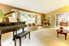 Living room with grand piano Stock Photography