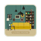 Living room grunge interior. Stock Image