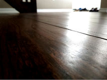 Living room hardwood Royalty Free Stock Photos