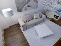 Living room high-tech interior Royalty Free Stock Image
