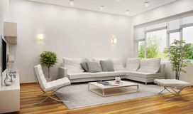 Living room in the hotel. Modern living room in the hotel royalty free stock image