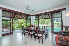 Living room of hotel room, Bali Stock Images