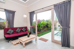 Living room of hotel room, Bali Stock Image