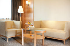 Living room of the hotel suite. Stock Images