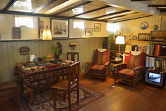 Living room of the Houseboat Museum in Amsterdam. Royalty Free Stock Photos