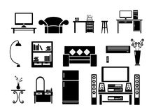 Living room Icon Set Vector Stock Image
