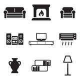 Living Room Icons Stock Photography