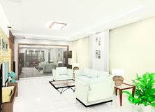 Living Room Illustration Royalty Free Stock Image