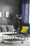 Living room with industrial furniture Stock Photos