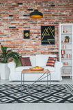 Living room in industrial style Royalty Free Stock Image