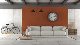 Living room in industrial style Stock Photos