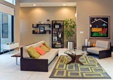 Living Room. Inside a modern home living room Stock Image