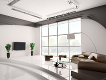 Living room interior 3d Stock Images