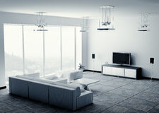 Living room interior 3d render Royalty Free Stock Photos