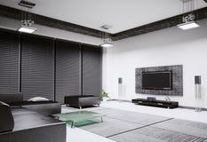 Living room interior 3d render Stock Photos