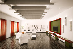 Living room interior 3d render Royalty Free Stock Images